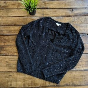 UO Silence + Noise Mesh Sequin Sweater
